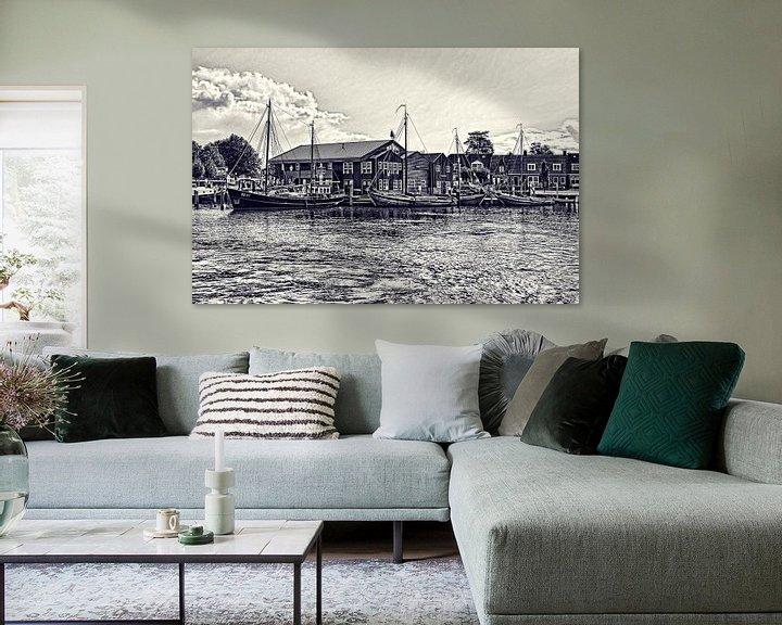 Beispiel: Harbor of Elburg von Leo Huijzer