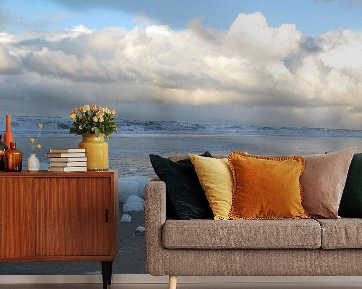 Sfeerimpressie behang: Schuimende wolken van Jon Houkes