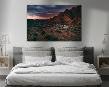 Feuriger Himmel im Fire Valley von Joris Pannemans - Loris Photography