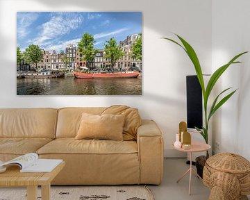 AMSTERDAM Hausboote auf der Prinsengracht von Melanie Viola