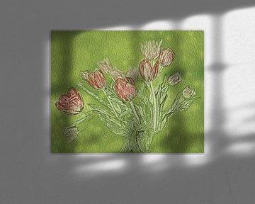 Reines Tulpen Glück von Susan Hol
