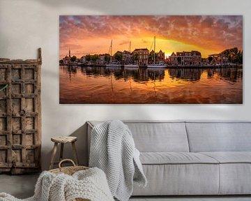 Panoramic sunset in Alkmaar
