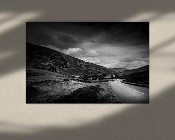 Landschap Schotland (zwart/wit) von Dennis Wardenburg