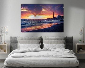 Gran Canaria - Maspalomas Sunset van Alexander Voss