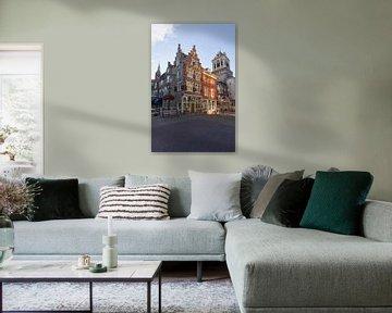 Der Markt in Delft von Charlene van Koesveld