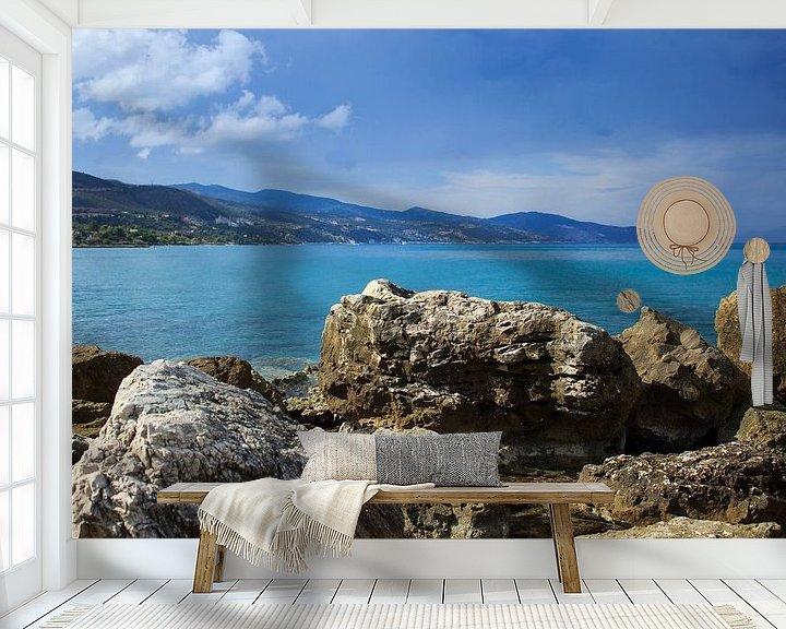Sfeerimpressie behang: Uitzicht op zee van Dennis Kluytmans