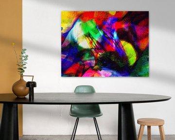 Modernes, abstraktes digitales Kunstwerk - Der Unterschied zwischen von Art By Dominic