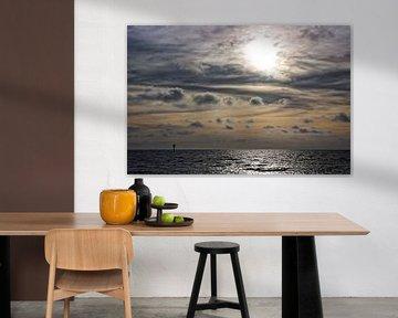 Zonsondergang Noordzee van Miranda van Hulst