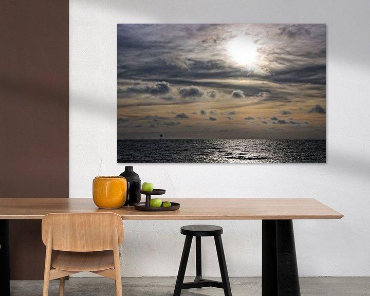 Sfeerimpressie: Zonsondergang Noordzee van Miranda van Hulst