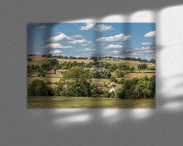 Uitzicht op Epen in Zuid-Limburg von John Kreukniet