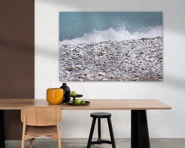 natuur landschap stenen aan de zee in Rhodos van Remko van der Hoek- Zijdemans