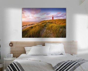 Leuchtturm am Texel von Vincent Fennis