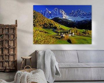 Geislerspitzen, Villnösstal, Südtirol van Hans-Peter Merten