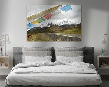 Glacier Karola sur le plateau tibétain sur Zoe Vondenhoff