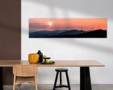 Panorama | zonsondergang | Schwarzwald | Duitsland van Marianne Twijnstra-Gerrits