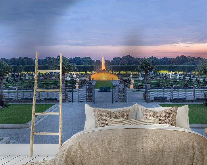Sfeerimpressie behang: Herrenhäuser Gärten Panorama van Patrice von Collani