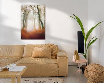 Wald in der Morgendämmerung von Angel Estevez