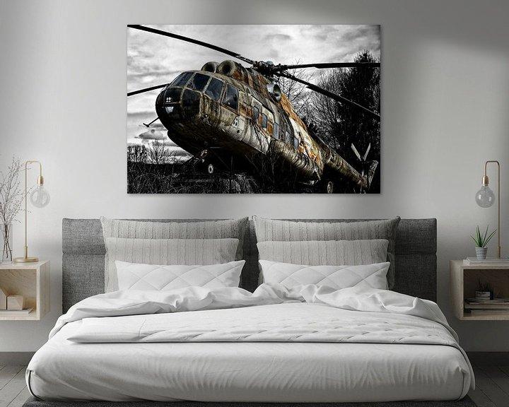 Beispiel: Lost Place mit altem Hubschrauber von Joachim G. Pinkawa