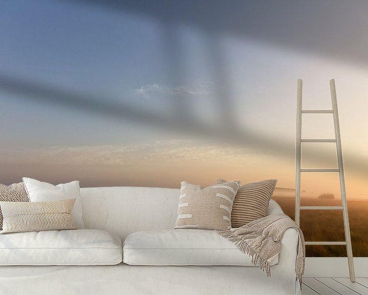 Sfeerimpressie behang: Schaapskudde met schaapsherder van Anneke Hooijer