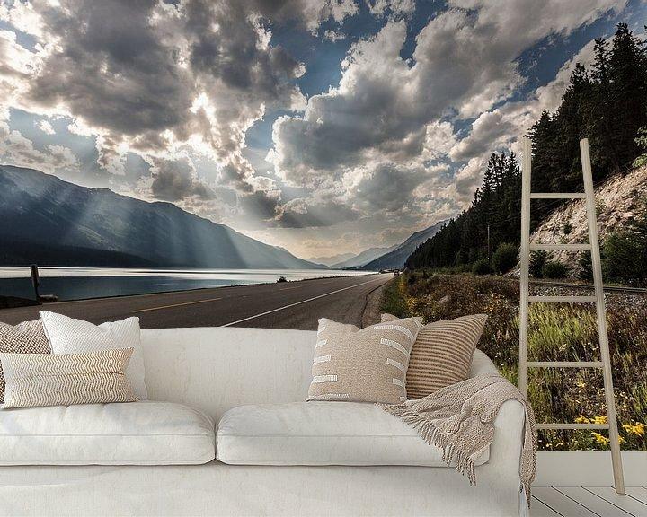 Sfeerimpressie behang: Canadese Rocky Mountains van Bart Veeken