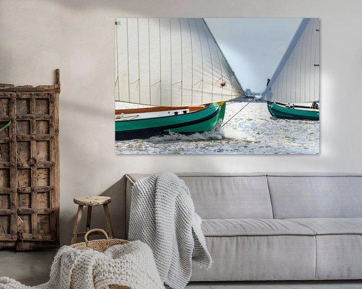 Sfeerimpressie: Skûtsje klassieke Friese  Tjalk zeilboten van Sjoerd van der Wal