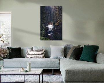 Herfst waterval van Joris Pannemans - Loris Photography