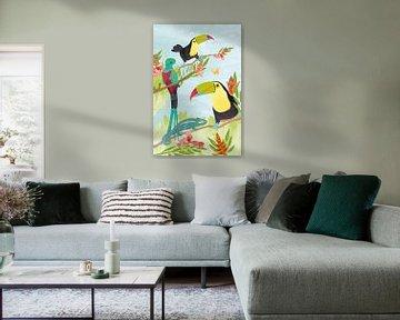Vögel im Dschungel von Karin van der Vegt