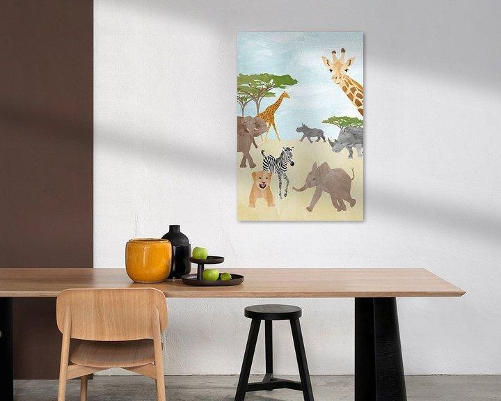 Sfeerimpressie: Wilde dieren in Afrika van Karin van der Vegt