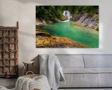Waterfall in Bavaria van Martin Wasilewski