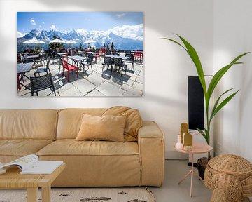 Uitzicht op de Mont Blanc, Frankrijk sur Rosanne Langenberg