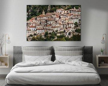 Sainte Agnes, dorpje aan de Côte d'Azur in Frankrijk van Rosanne Langenberg