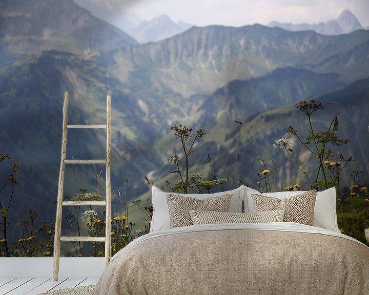 Sfeerimpressie behang: Holidays in the Alps van Erich Werner