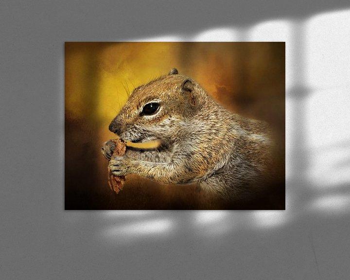 Sfeerimpressie: Portret Van Een Lief Eekhoorntje van Diana van Tankeren