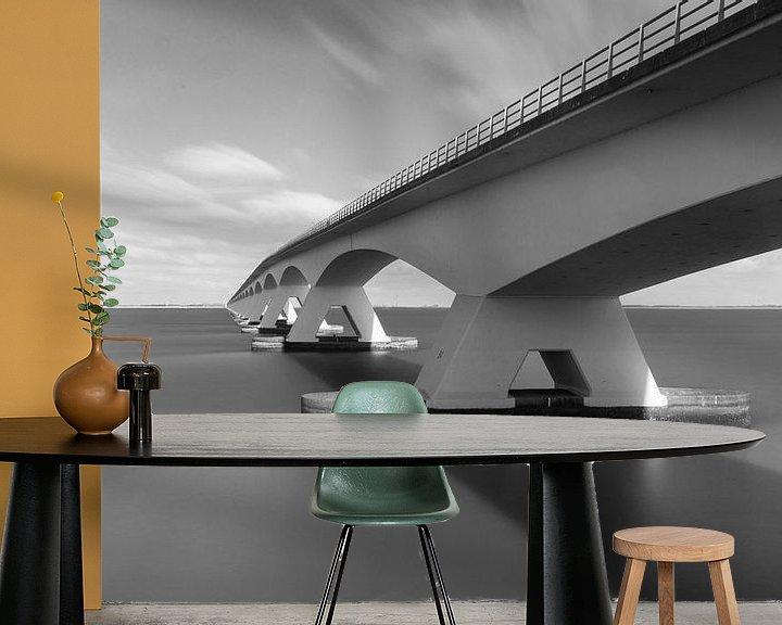 Sfeerimpressie behang: Zeelandbrug van Casper Smit