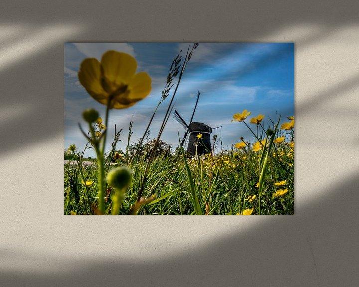 Sfeerimpressie: Molen nabij Jisp Noord Holland van Frank Slaghuis