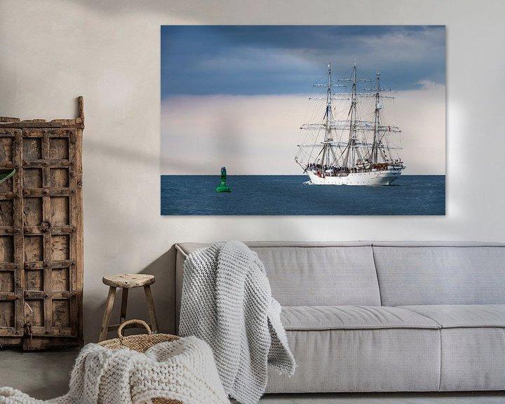 Beispiel: Segelschiff auf der Hanse Sail in Rostock von Rico Ködder