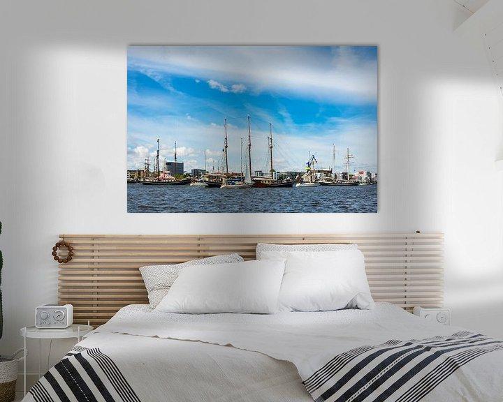 Sfeerimpressie: Windjammer on the Hanse Sail in Rostock, Germany van Rico Ködder