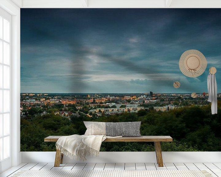 Beispiel fototapete: Skyline Venlo von Juul Hekkens