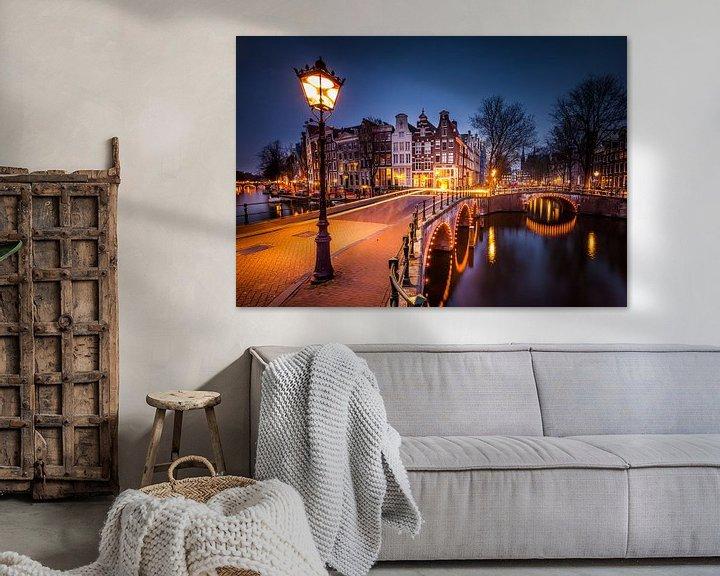 Impression: Keizersgracht Amsterdam by night sur Juul Hekkens
