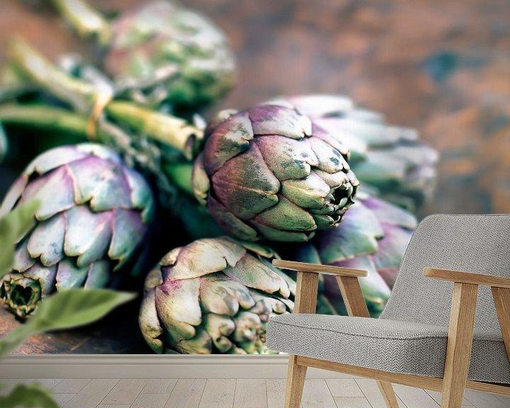 Sfeerimpressie behang: artisjok15 van Liesbeth Govers voor omdewest.com