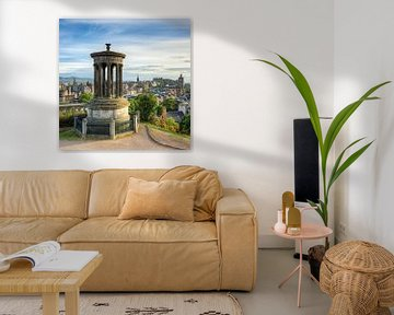 Edinburgh Calton Hill (quadratisch) von Michael Valjak