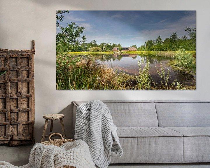 Sfeerimpressie: De Poele van Boele in het natuurgebied het Curringherveld te Kornhorn (Westerkwartier) van Martijn van Dellen
