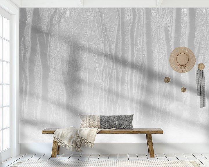 Sfeerimpressie behang: White Forest van jowan iven