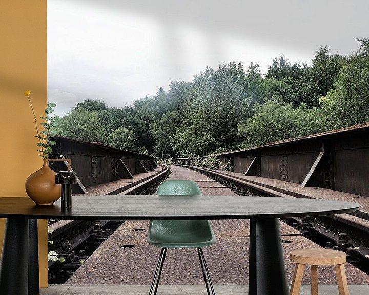 Beispiel fototapete: Oude spoorweg  brug von Tiffany Venus
