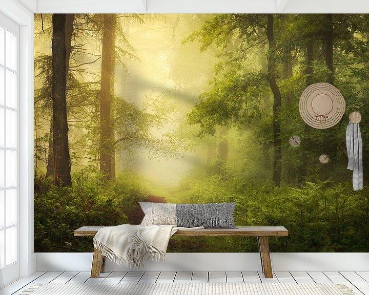 Sfeerimpressie behang: Hazy Days. van Inge Bovens