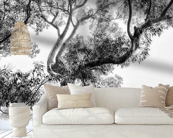 Sfeerimpressie behang: Regenwoud in de mist van Ines van Megen-Thijssen