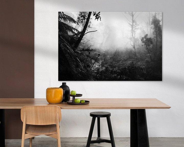 Beispiel: Regenwald im Nebel VII von Ines van Megen-Thijssen