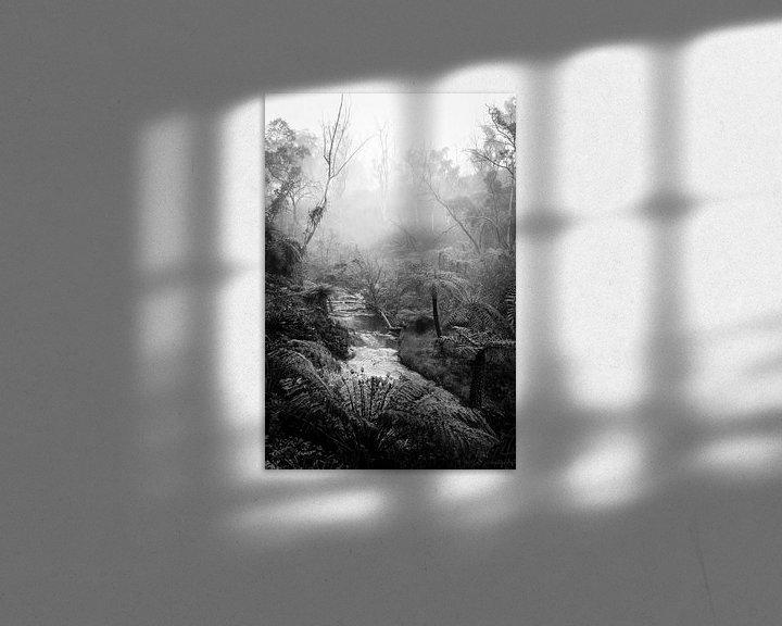 Impression: Forêt tropicale dans le brouillard XI sur Ines van Megen-Thijssen