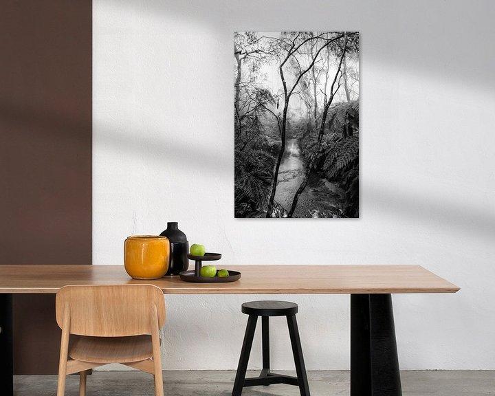 Impression: Forêt tropicale dans le brouillard XIV sur Ines van Megen-Thijssen