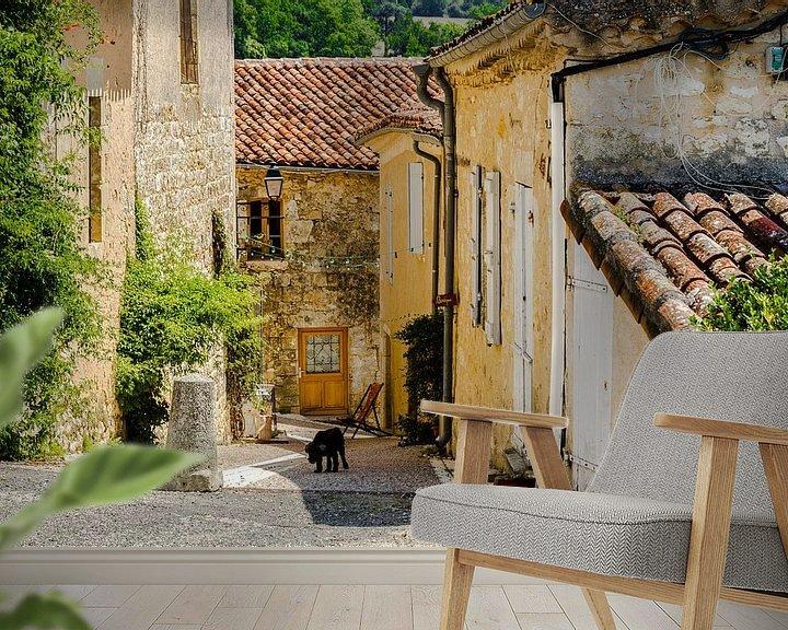 Sfeerimpressie behang: Typisch Frans straatje van Peters Foto Nieuws l Beelderiseren